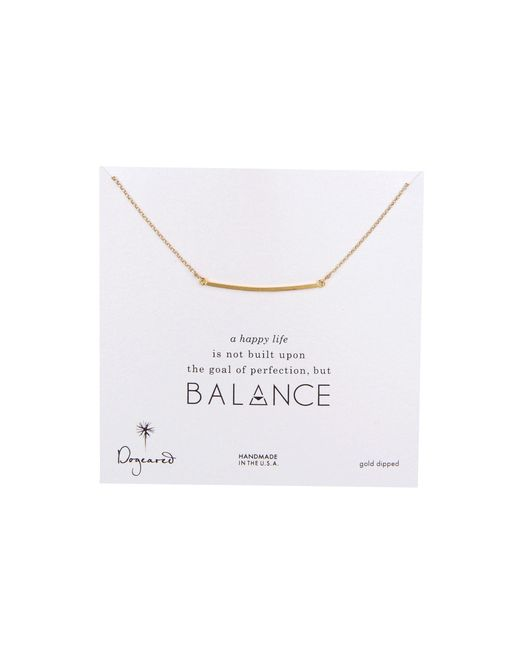 Dogeared | Metallic Balance Large Square Bar Necklace | Lyst