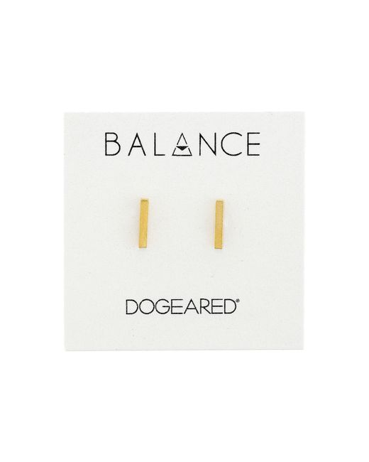 Dogeared | Metallic Balance Flat Bar Stud Earrings | Lyst
