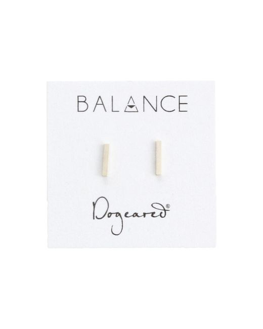Dogeared | Metallic Balance Flat Bar Stud Earrings | Lyst