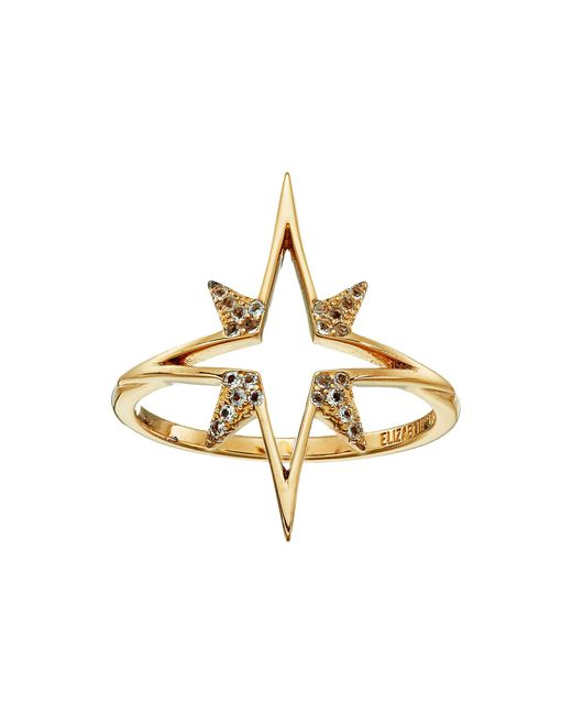 Elizabeth and James   Metallic Astral Ring   Lyst