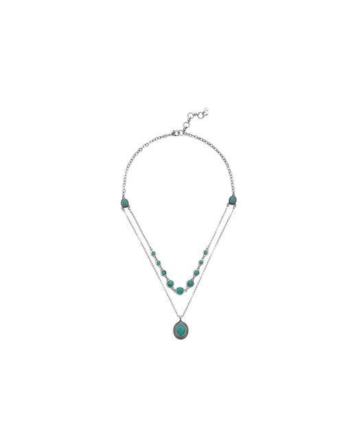 Lucky Brand | Blue Gem Bazaar Turquoise Double Layer Necklace | Lyst