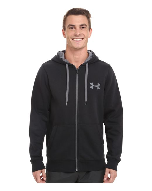 Under Armour   Black Ua Rival Cotton Full Zip Hoodie for Men   Lyst