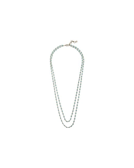 Lucky Brand | Metallic Blue Strand Necklace | Lyst