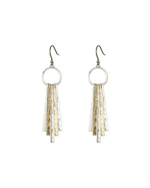 Lucky Brand | Multicolor Metal Paddle Earring | Lyst