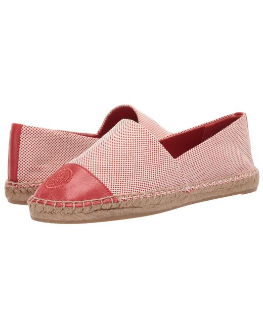 bf7448813c9f Tory Burch - Pink Color Block Flat Espadrille (ivory black Leather) Women s  Shoes ...