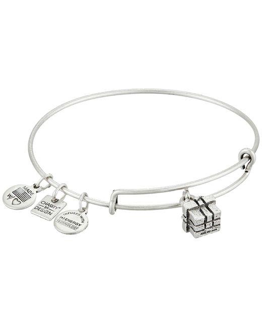 ALEX AND ANI | Metallic Gift Box Charm Bangle | Lyst