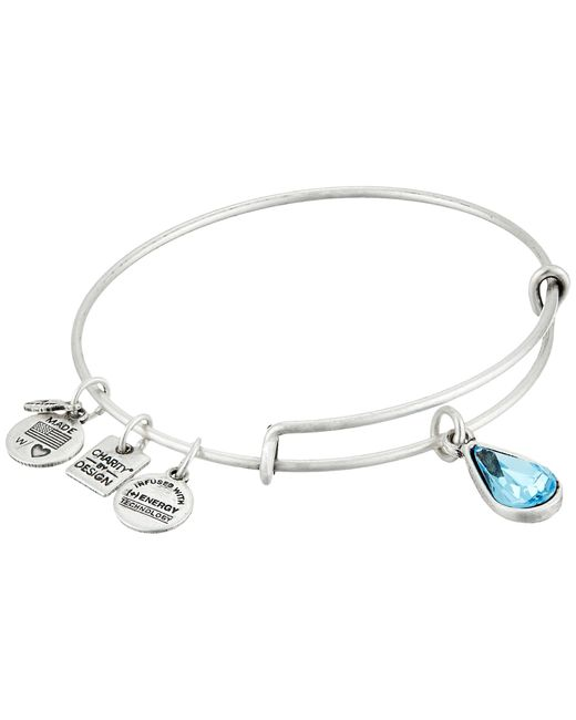 ALEX AND ANI | Metallic Living Water Charm Bangle | Lyst