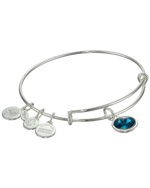 ALEX AND ANI | Metallic December Birthstone Charm Bangle | Lyst