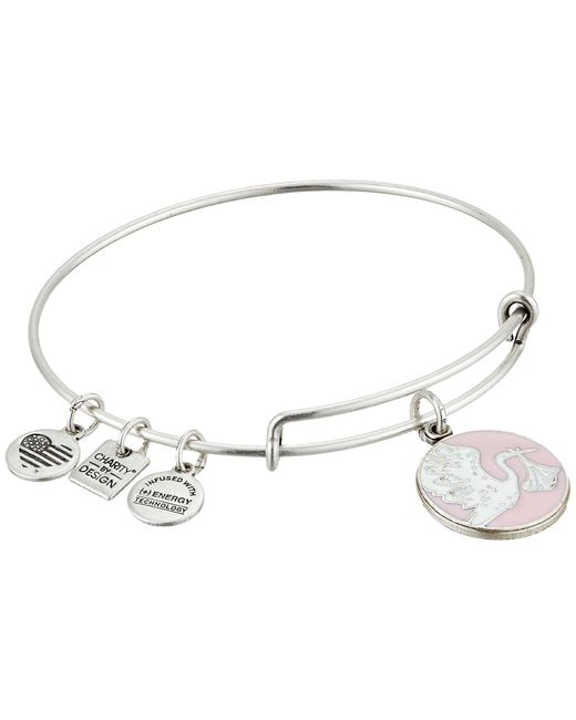 ALEX AND ANI   Metallic Pink Special Delivery Charm Bangle   Lyst