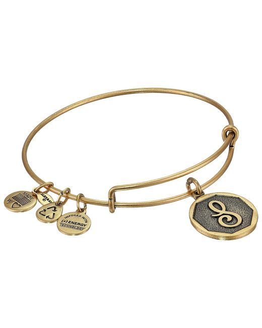 ALEX AND ANI | Metallic Initial S Charm Bangle | Lyst