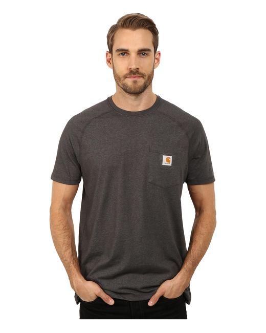 Carhartt   Black Force® Cotton Delmont Short-sleeve T-shirt for Men   Lyst