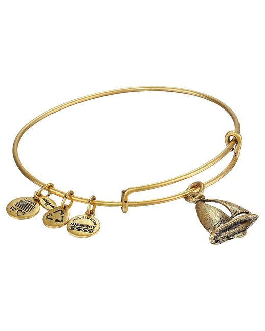 ALEX AND ANI | Metallic Sailboat Charm Bangle | Lyst