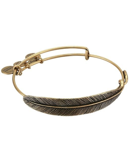 ALEX AND ANI | Metallic Quill Feather Bangle | Lyst