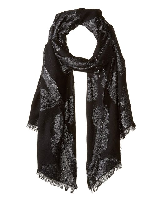 MICHAEL Michael Kors - Metallic Paisley Oblong (black/silver) Scarves - Lyst