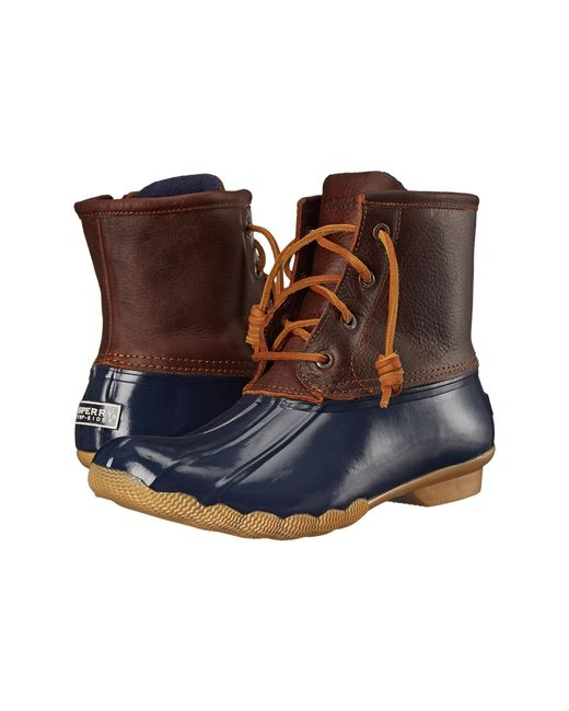 Sperry Top-Sider | Brown Saltwater Water-Resistant Leather Boots | Lyst