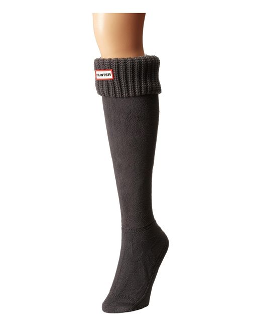 HUNTER | Gray Half Cardigan Boot Socks | Lyst