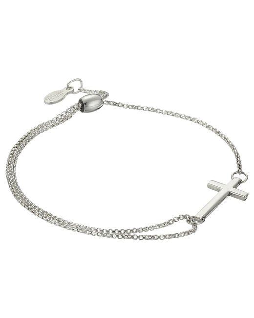 ALEX AND ANI - Metallic Precious Ii Collection Cross Adjustable Bracelet (sterling Silver Finish) Bracelet - Lyst