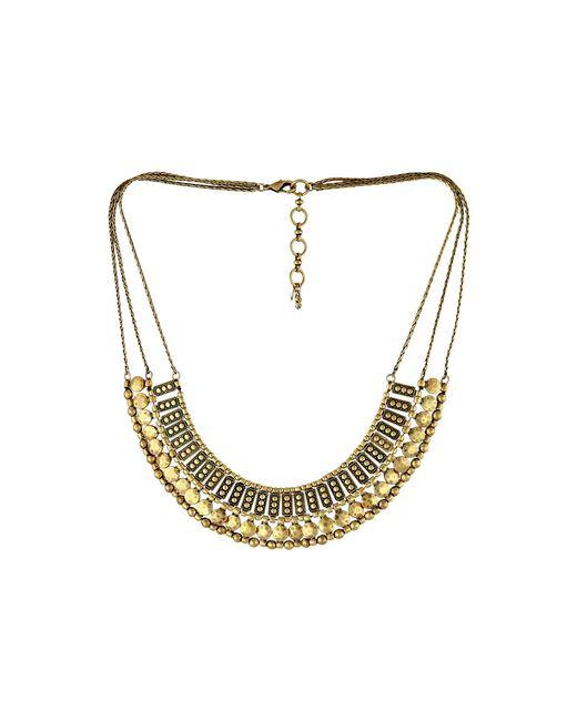 Lucky Brand | Metallic Textured Metal Necklace | Lyst