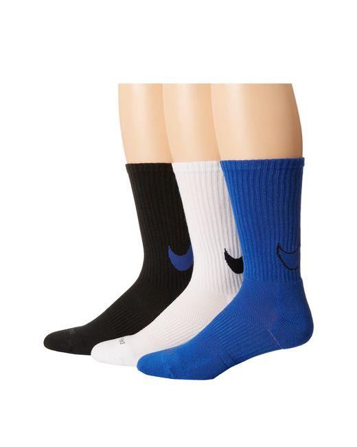 Nike | Multicolor Dri-fit Cotton Swoosh Crew 3-pair Pack | Lyst