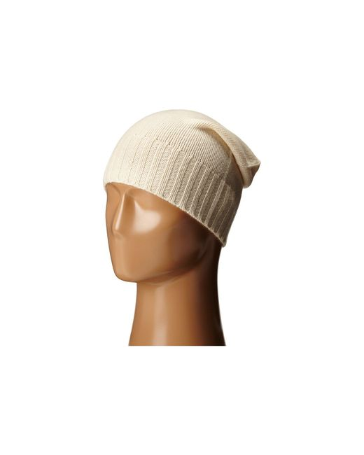 Hat Attack   Natural Cashmere Slouchy   Lyst
