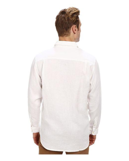 Tommy bahama sea glass breezer long sleeve shirt in white for Tommy bahama long sleeve dress shirts