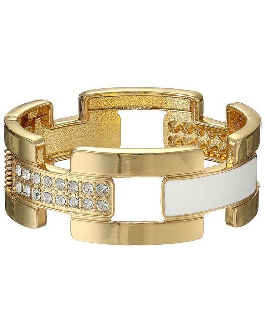 Guess | Metallic Wide Cuff Link Bracelet | Lyst