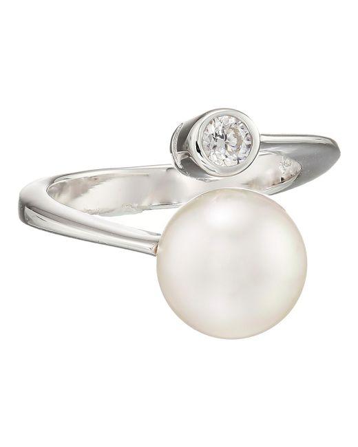 Majorica | Metallic 10mm Pearl & Cz Wrap Ring | Lyst