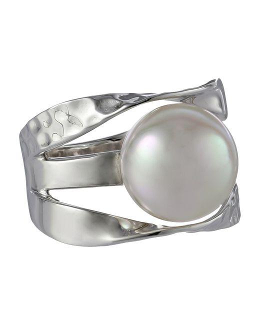 Majorica   Metallic Ribbon 12mm Rd Ring   Lyst