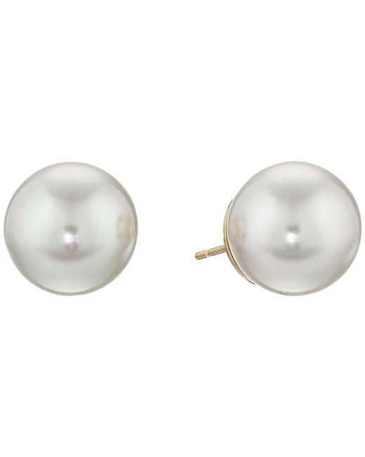 Majorica | Metallic 12mm Stud Earrings | Lyst