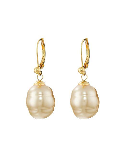 Majorica   Metallic 12mm Baroque Pearl Drop Earrings   Lyst