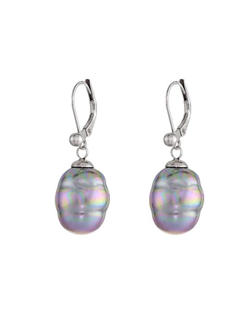 Majorica | Purple 12mm Baroque Pearl Drop Earrings | Lyst