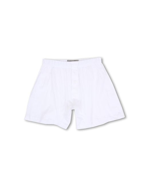 2xist | White Pima Knit Boxer for Men | Lyst