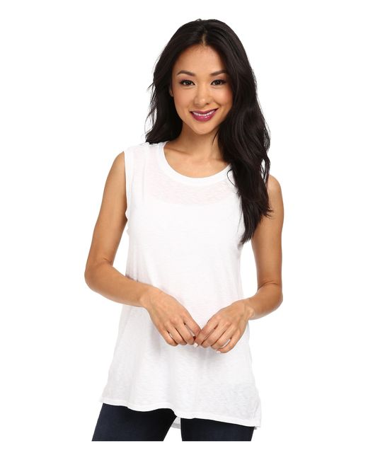 Lamade | White High-low Muscle Tee | Lyst