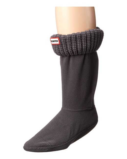 Hunter   Gray Half Cardigan Boot Sock - Short   Lyst
