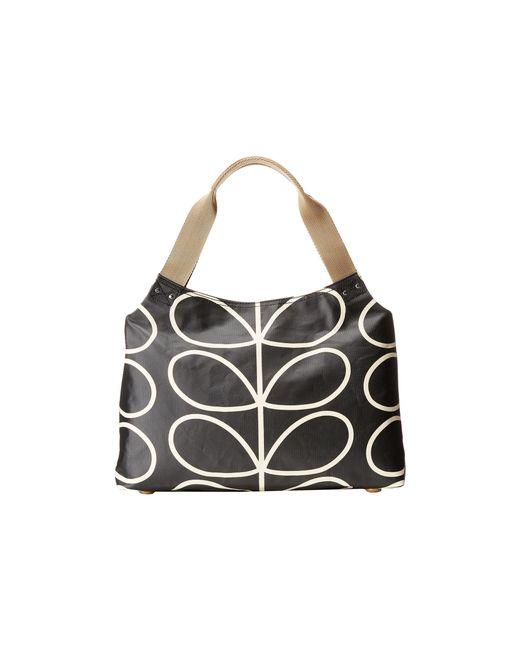 Orla Kiely | Black Classic Zip Shoulder Bag | Lyst