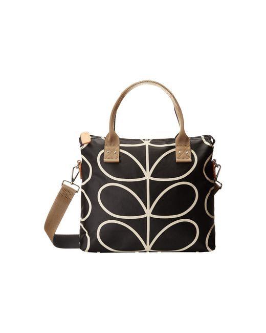 Orla Kiely | Black Zip Messenger | Lyst