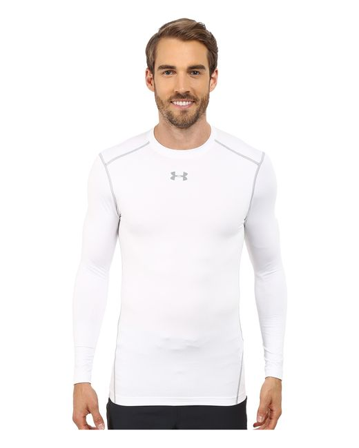 Under Armour | White Ua Coldgear® Armour® Compression Crew for Men | Lyst
