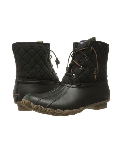 Sperry Top-Sider | Black Saltwater Quilted Water-Resistant Boots | Lyst