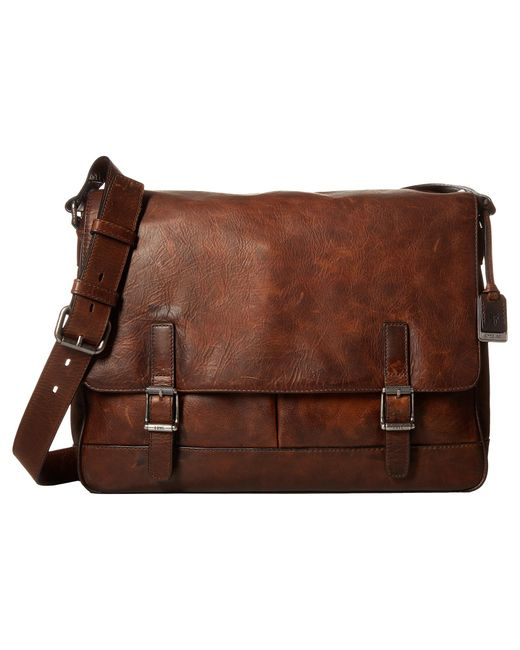 Frye | Brown Oliver Messenger for Men | Lyst