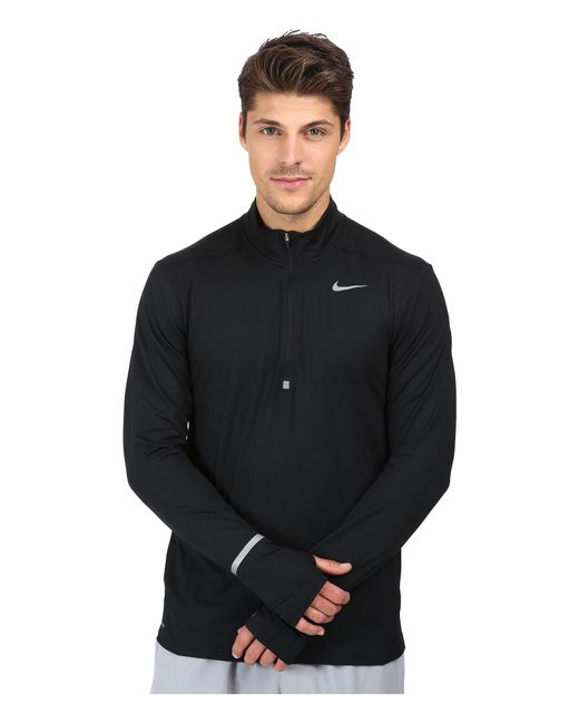 Nike | Black Dry Element Long Sleeve Running Top for Men | Lyst