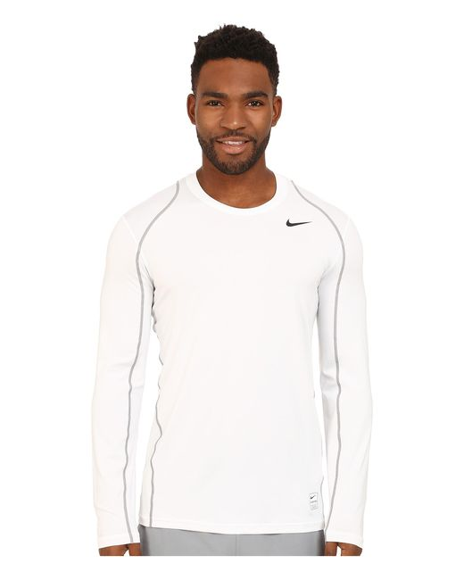 Nike | White Pro Cool Fitted L/s for Men | Lyst