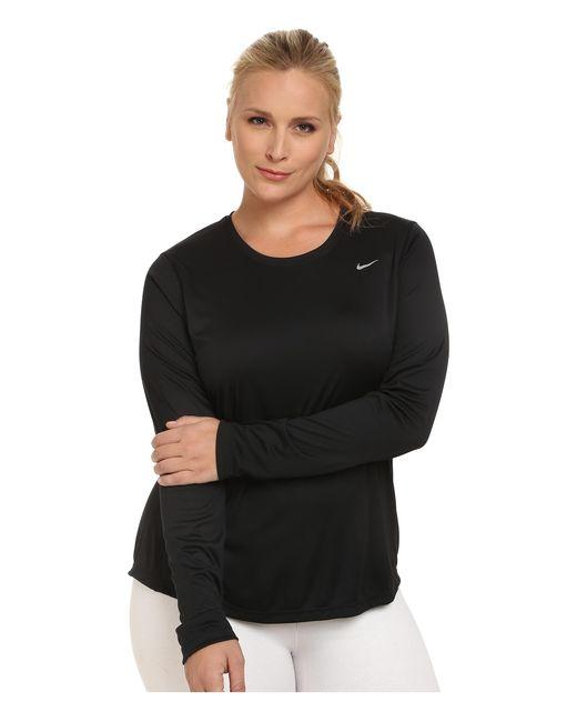 Nike | Black Miler Long-sleeve Running Top (size 1x-3x) | Lyst