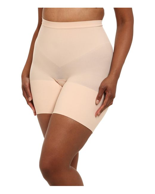 Spanx   Natural Plus Size Power Shorts   Lyst