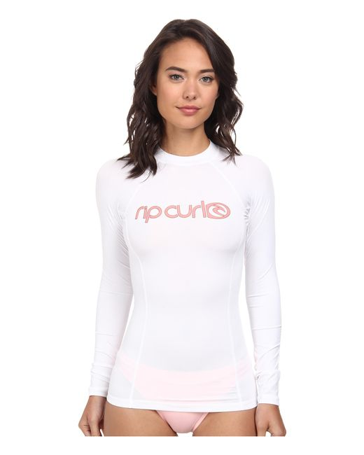 Rip Curl | White Surf Team Long Sleeve | Lyst