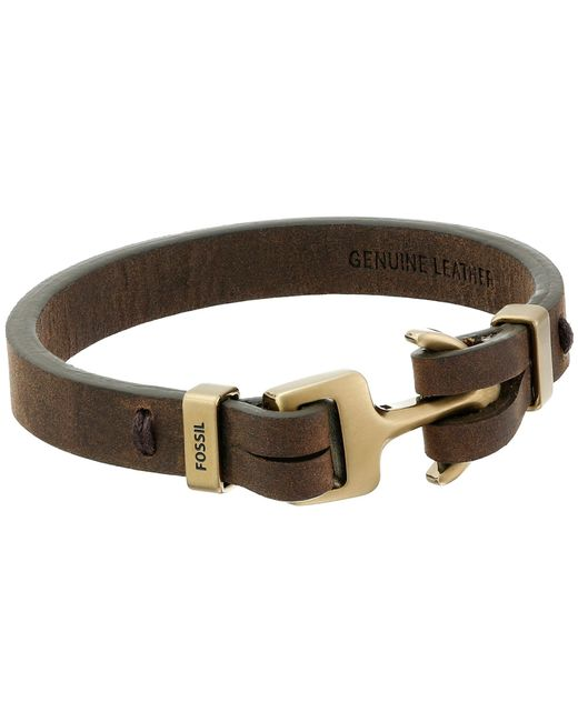 Fossil | Brown Anchor Bracelet for Men | Lyst
