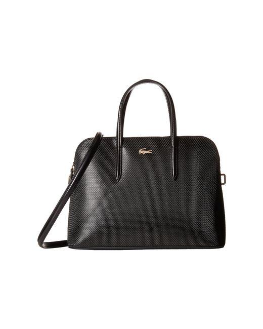 Lacoste | Black Chantaco Zip Around Top-handle Satchel | Lyst