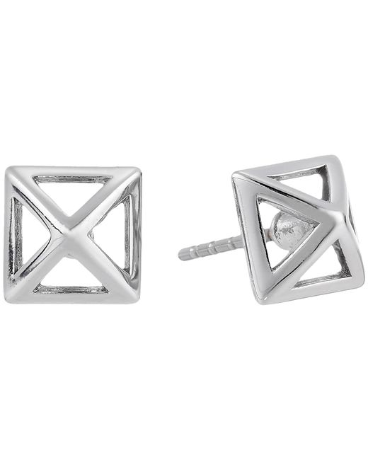 Rebecca Minkoff | Metallic Cutout Stud Earrings | Lyst