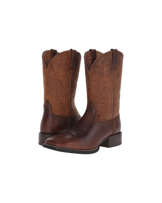 Ariat | Brown Sport Western Wide Square Toe for Men | Lyst