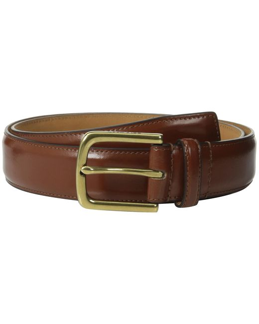 Cole Haan | Brown 32mm Spazzolato Feather Edge Stitched Strap for Men | Lyst