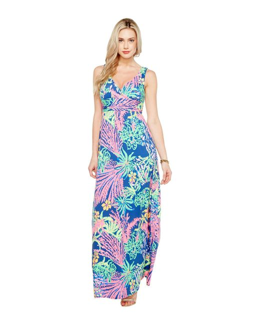 Lilly Pulitzer | Blue Sloane Maxi Dress | Lyst